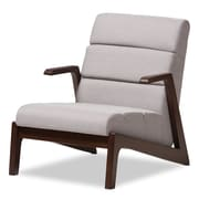 Wholesale Interiors Lazzaro Mid-Century Modern Wood Fabric Lounge Chair
