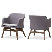 Wholesale Interiors Victoria Mid-Century Modern Fabric Armchair (Set of 2)