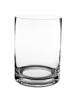 CYSExcel Glass Cylinder Vase (Set of 6); 8'' H x 6'' W x 6'' D WYF078279794115