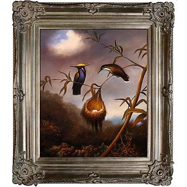 Tori Home Black-Breasted Plovercrest by Martin Johnson Heade Framed Painting Print; Champagne