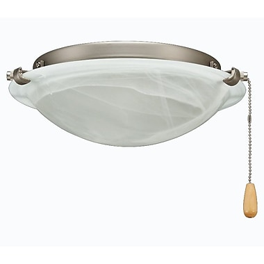 Royal Pacific 2-Light Bowl Fan Light Kit; Brushed Nickel
