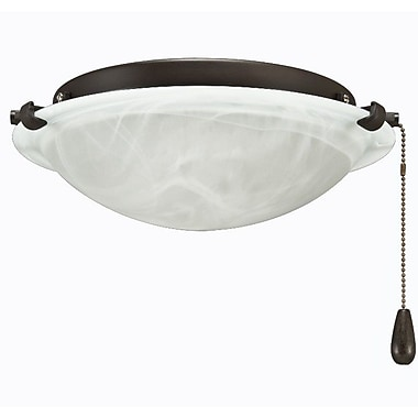 Royal Pacific 2-Light Bowl Fan Light Kit; Bronze