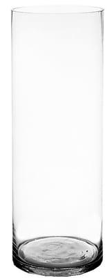 CYSExcel Glass Cylinder Floor Vase (Set of 2); 30'' H x 10'' W x 10'' D WYF078279794139