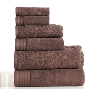 Panache Jacquard 6 Piece Towel Set; Coffee