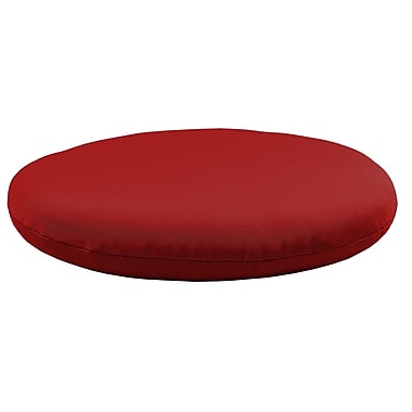 Comfort Classics Round Knife Edge Outdoor Sunbrella Cushion; Jocky Red