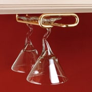 Rebrilliant Hanging Metal Wine Glass Rack; Brass
