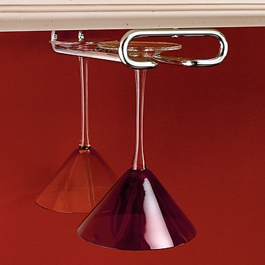 Rev-A-Shelf Hanging Wine Glass Rack; Chrome