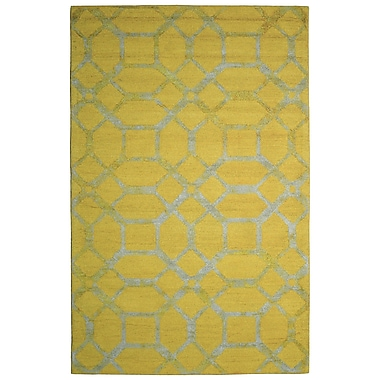 Eastern Weavers Wool Hand-Tufted Gold/Ivory Area Rug; 5' x 8'