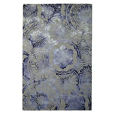 Eastern Weavers Wool Hand-Tufted Ivory/Purple Area Rug; 5' x 8'