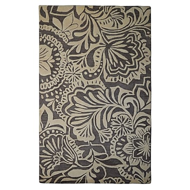 Eastern Weavers Wool Hand-Tufted Ivory/Brown Area Rug; 5' x 8'