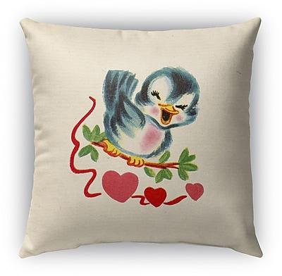 Kavka Be Mine Burlap Indoor/Outdoor Throw Pillow; 16'' H x 16'' W