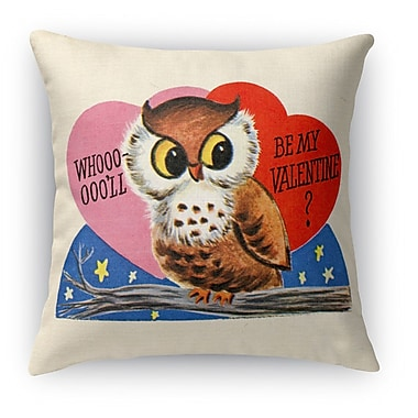 Kavka Be My Valentine Indoor Throw Pillow; 18'' H x 18'' W