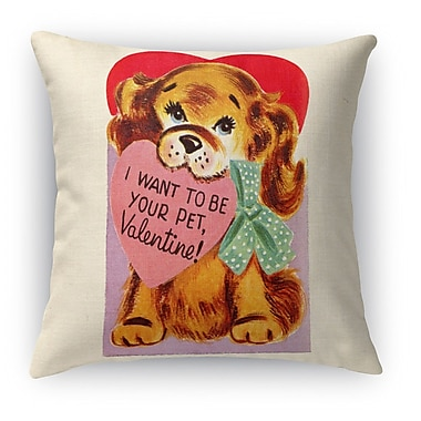 Kavka I Want to Be Your Pet Indoor Throw Pillow; 18'' H x 18'' W