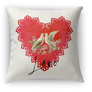Kavka Love Birds 2 Indoor Throw Pillow; 16'' H x 16'' W