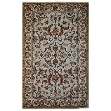 Eastern Weavers Wool Hand-Tufted Beige/Gold Area Rug; 5' x 8'