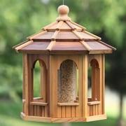 All Things Cedar 8 Sided Octagonal Hopper Bird Feeder