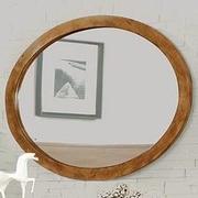 A&J Homes Studio Lennart Oval Dresser Mirror; Oak