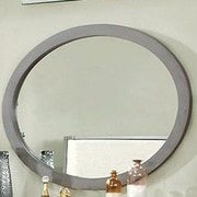 A&J Homes Studio Lennart Oval Dresser Mirror; Gray