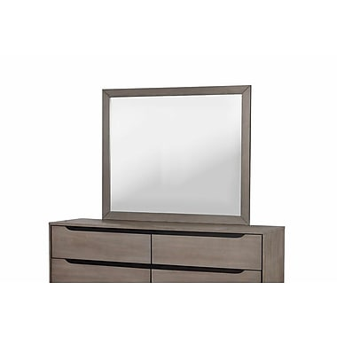 A&J Homes Studio Lennart Rectangular Dresser Mirror; Gray