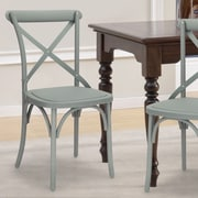 AdecoTrading Eco-Friendly Nylon Vintage Dining Side Chair (Set of 2); Gray