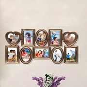 AdecoTrading 10 Opening Plastic Picture Frame; Antique Gold