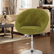 AdecoTrading Adjustable Height Swivel Bar Stool; Green