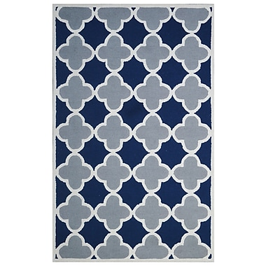Eastern Weavers Wool Hand-Tufted Blue/Gray Area Rug; 5' x 8'