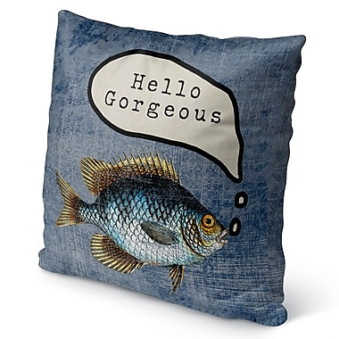 Longshore Tides Ellenburg Good Morning Gorgoues Burlap Indoor/Outdoor Throw Pillow