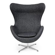Orren Ellis Deniela Solid Balloon Chair; Carbonite