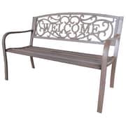 LB International Cast Iron Park Bench; Bronze