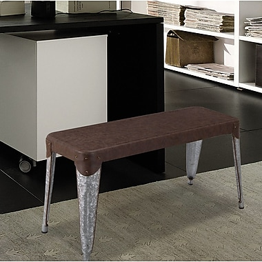 AdecoTrading Metal Dining Bench