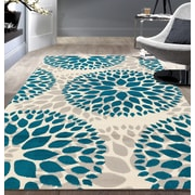 Varick Gallery Wallner Blue Area Rug; 7'6'' x 9'5''