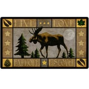 American Expedition Glass Lodge Series Moose Cutting Board