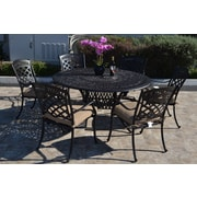 Fleur De Lis Living Wildermuth 7 Piece Dining Set w/ Cushions