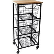 Cheungs Storage Tower 3-Basket Accent chest