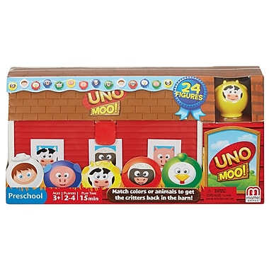 Fisher Price – Jeu de cartes Uno Moo Cost, rouge