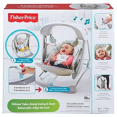 Fisher-Price – Siège de bébé de transport et berçant de luxe