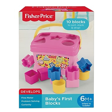 Fisher Price – Blocs de construction Babys First Blocks, rose