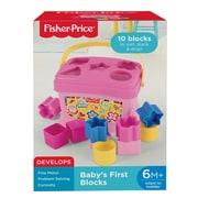 Fisher Price – Blocs de construction Babys First Blocks, rose