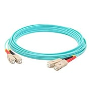 AddOn® SC to SC Male/Male Multi-Mode Duplex Fiber Optic Network Patch Cable, Aqua, 22.97' (ADD-SC-SC-7M5OM3)