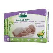 Aleva® Naturals Bamboo Baby Size NB-1 Disposable Diapers, White, 32/Pack, 6 Packs/Carton (37842-6-KIT)