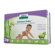 Aleva® Naturals Bamboo Baby Size 3 Disposable Diapers, Off-White, 28/Pack, 6 Packs/Carton (37848-6-KIT)