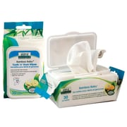 Aleva® Naturals Bamboo Baby Tooth 'n' Gum Wipes, Blue, 30/Pack, 6 Packs/Carton (37960-6-KIT)