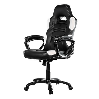 Arozzi Enzo Racing Style Gaming Chair, White (ENZO-WH)