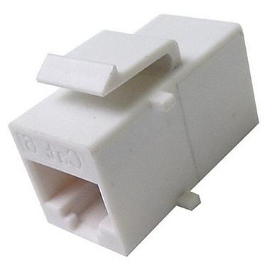 Calrad® 72-305E-6 White RJ-45 Cat6 Female/Female Feed-Thru Keystone Insert