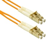 eNet LC to LC Male/Male Multi-Mode Duplex Fiber Optic Network Patch Cable, Orange, 6.56' (LC2-50-2M-ENC)