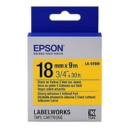 Epson® LabelWorks LK-5YBW 18 mm Label Cartridge, Black on Yellow