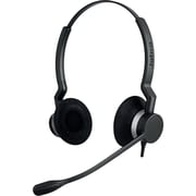 Jabra® BIZ™ 2300 QD Duo Corded Headset with Noise Cancelling Microphone, Black