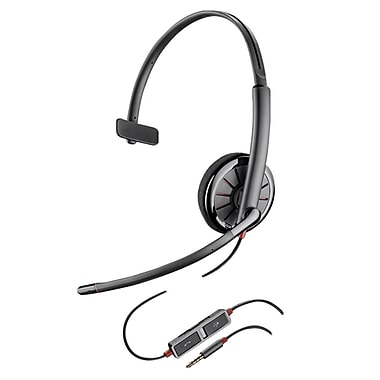 Plantronics® Blackwire 215 On-Ear Corded Mono Headset with Noise Cancelling Microphone, Black