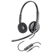 Plantronics® Blackwire C225 Corded Headset with Noise Cancelling Microphone, Black